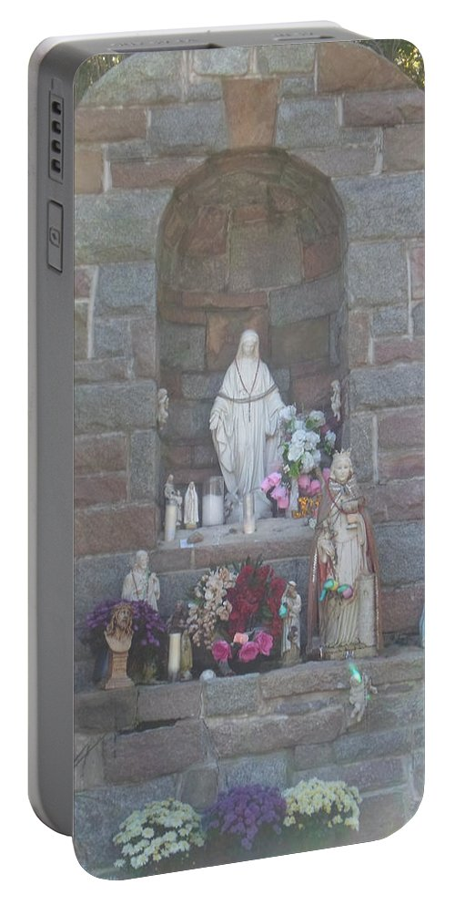 Apparition Portable Battery Charger featuring the photograph Apparition Of Virgin Mary by Art Dingo