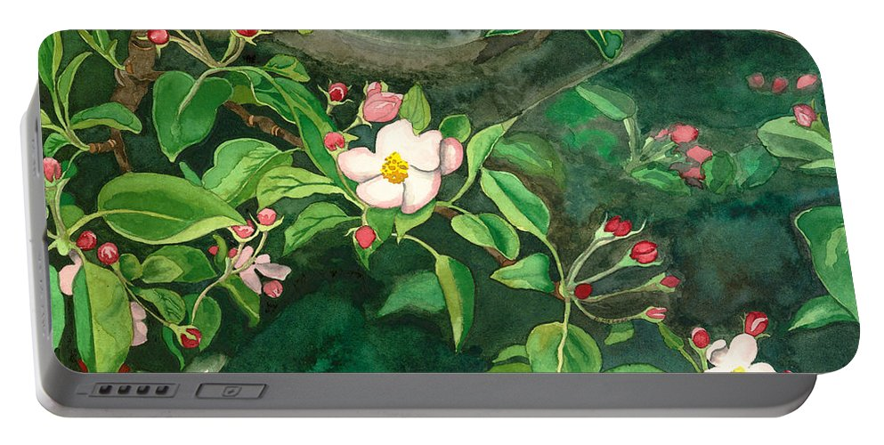 Blossoms Portable Battery Charger featuring the painting Apple Blossoms by Brad McLean