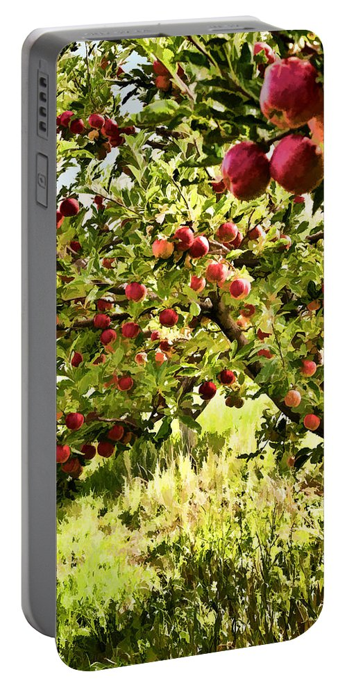 Apples Portable Battery Charger featuring the photograph Apple Orchard by Diana Powell