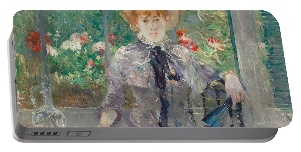 Morisot Portable Battery Charger featuring the painting Apres Le Dejeuner by Berthe Morisot
