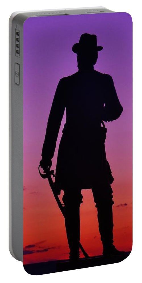 Gettysburg Portable Battery Charger featuring the photograph April Sunset In Gettysburg by Ed Sweeney