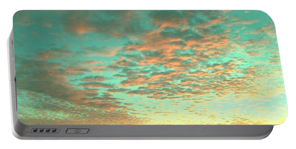 Sunset Photography Portable Battery Charger featuring the photograph Aqua Heaven by Angie Mahoney