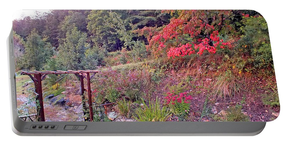 Duane Mccullough Portable Battery Charger featuring the photograph Arbor And Fall Colors by Duane McCullough