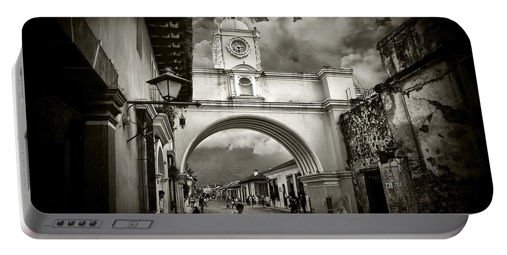 Arch Portable Battery Charger featuring the photograph Arch Of Santa Catalina by Tom Bell