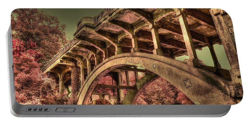 Colorful Bridge Portable Battery Charger featuring the photograph Arch Support by Dennis Baswell