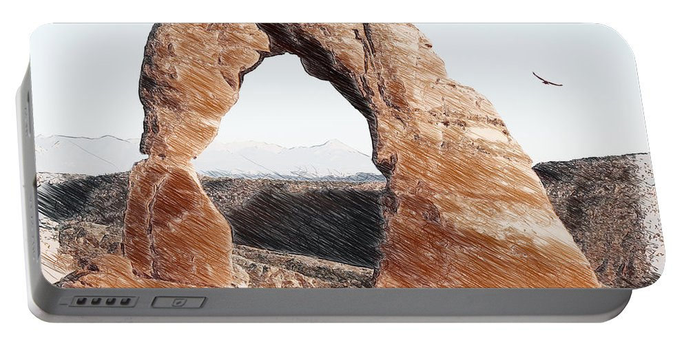 Delicate Portable Battery Charger featuring the photograph Arches National Park-utah by Ericamaxine Price