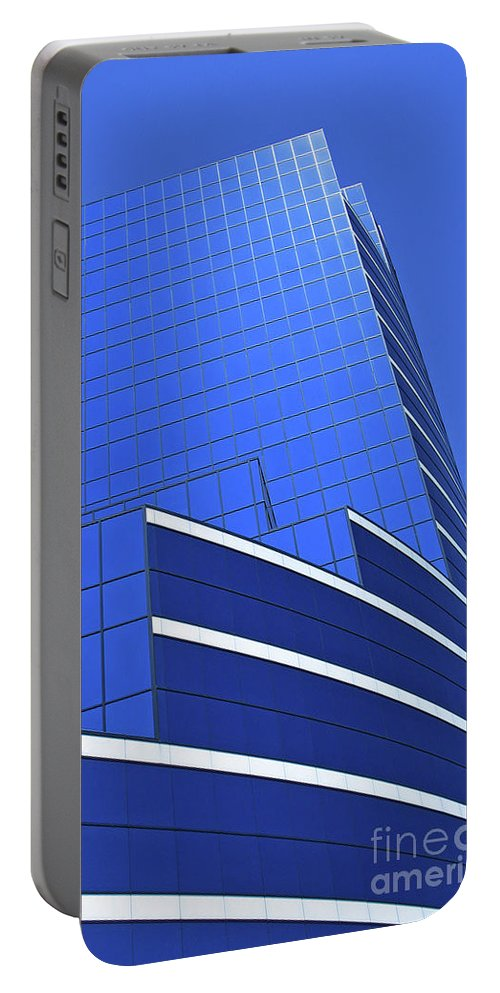 Architecture Portable Battery Charger featuring the photograph Architectural Blues by Ann Horn