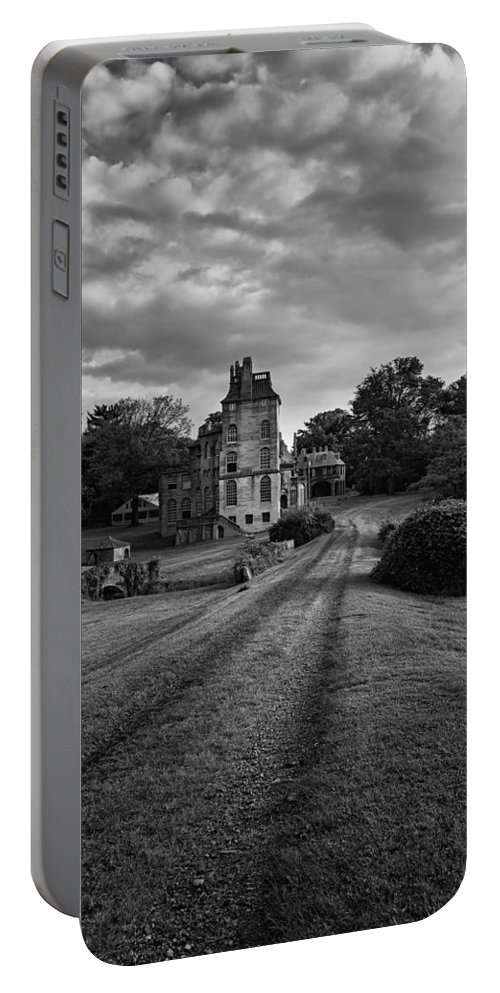 Byzantine Portable Battery Charger featuring the photograph Architectural Treasure Bw by Susan Candelario
