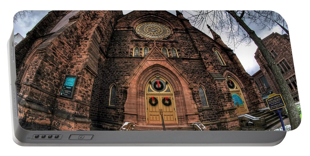 Architecture Portable Battery Charger featuring the photograph Architecture And Places In The Q.c. Series 01 Trinity Episcopal Church by Michael Frank Jr