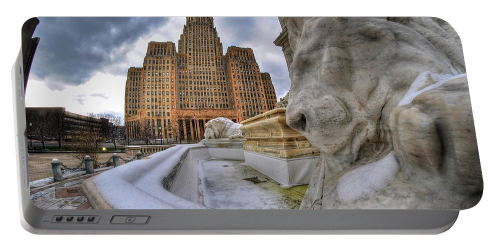 Architecture Portable Battery Charger featuring the photograph Architecture And Places In The Q.c. Series When The Lions Rest by Michael Frank Jr