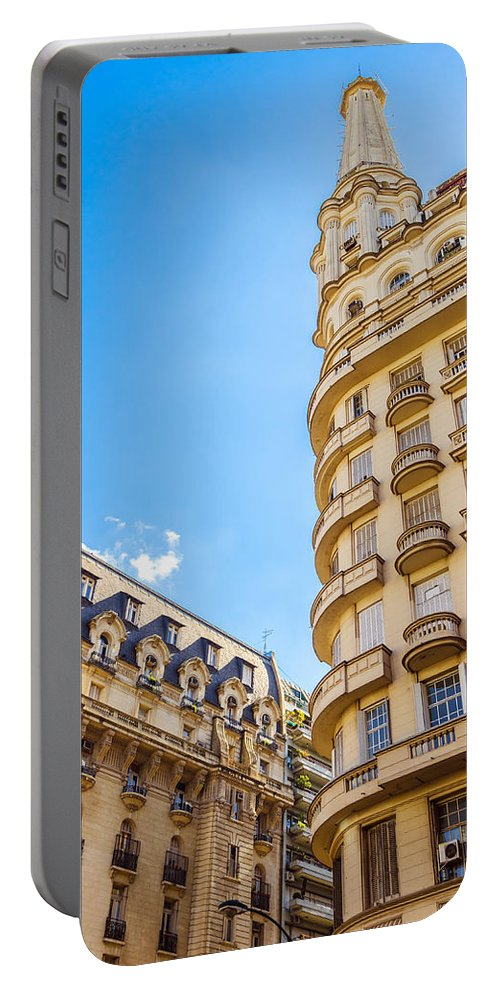 French Portable Battery Charger featuring the photograph Architecture In Buenos Aires by Jess Kraft