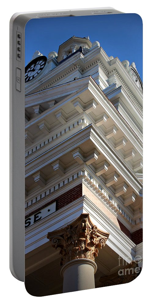 Reid Callaway Architecture Portable Battery Charger featuring the photograph Architecture In The Morgan County Court House by Reid Callaway