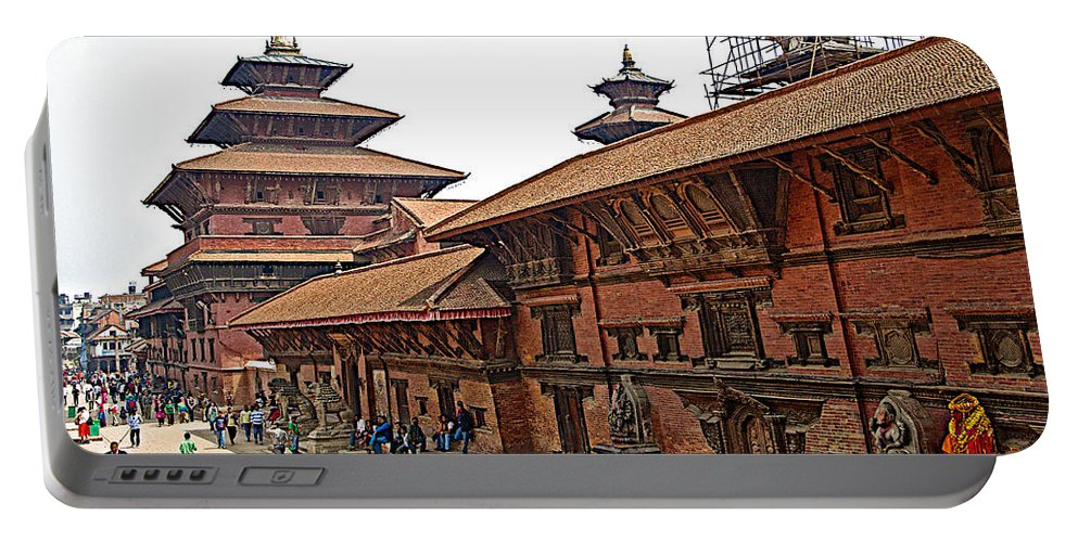 Architecture Of Patan Durbar Square In Lalitpur In Nepal Portable Battery Charger featuring the photograph Architecture Of Patan Durbar Square In Lalitpur-nepal by Ruth Hager