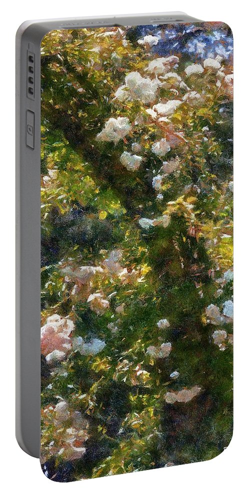 Arch Portable Battery Charger featuring the painting Archway Glorious by RC DeWinter