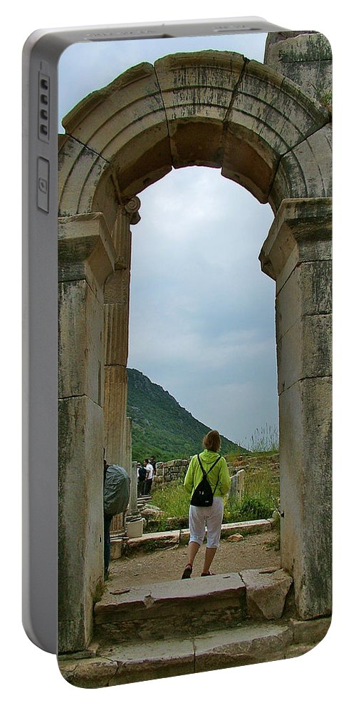Archway In Ephesus Portable Battery Charger featuring the photograph Archway In Ephesus-turkey by Ruth Hager