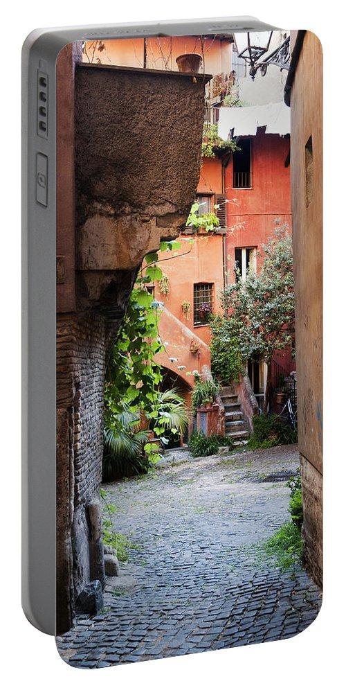 Rome Portable Battery Charger featuring the photograph Arco Degli Acetari by Fabrizio Troiani