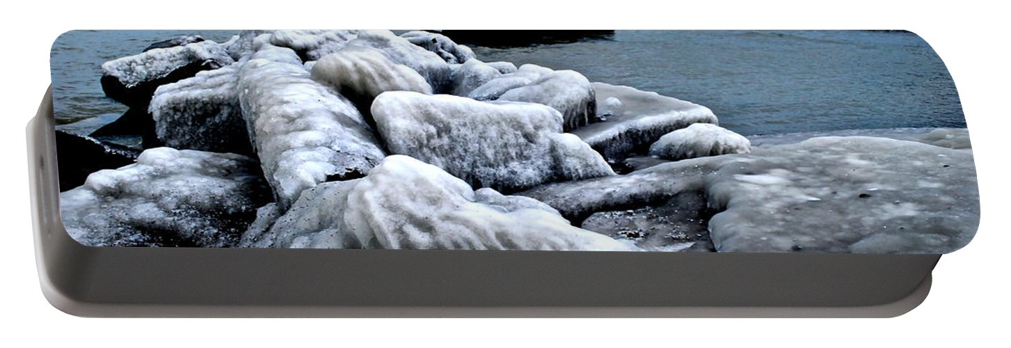 Freezing Portable Battery Charger featuring the photograph Arctic Waters by Frozen in Time Fine Art Photography