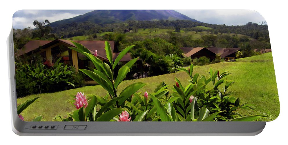 Tropical Portable Battery Charger featuring the photograph Arenal Costa Rica by Kurt Van Wagner