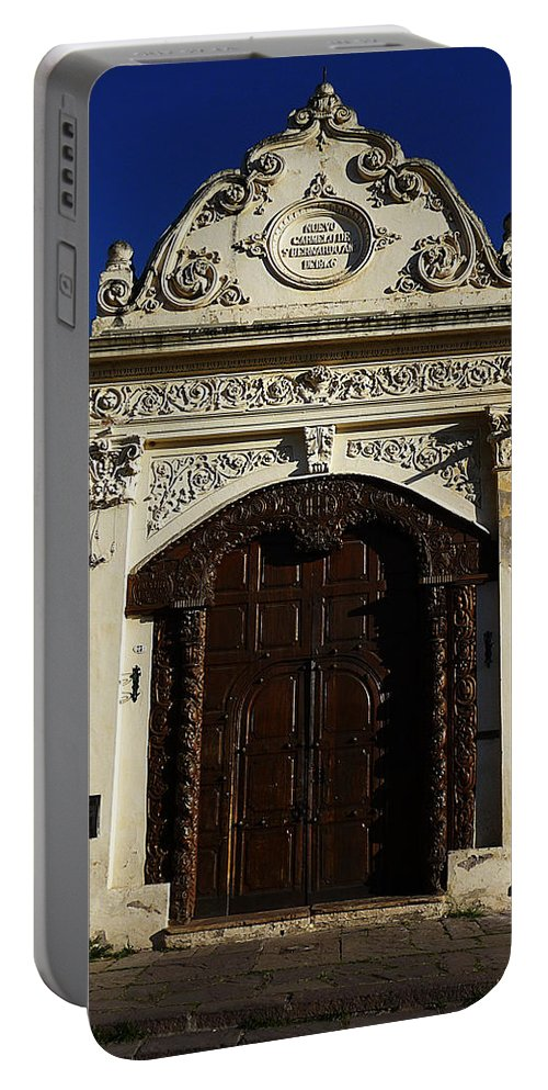 Door Portable Battery Charger featuring the photograph Argentinian Door Decor 3 by Xueling Zou