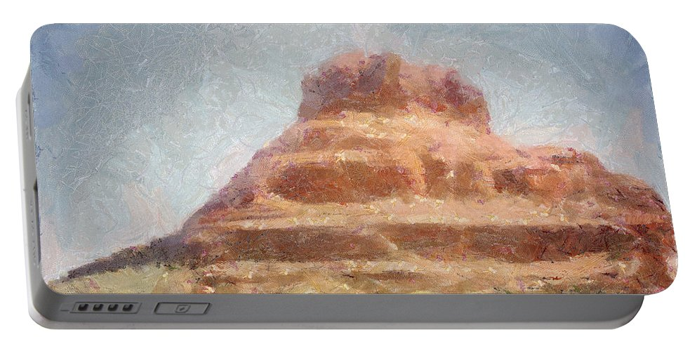 United States Of America Portable Battery Charger featuring the painting Arizona Mesa by Jeffrey Kolker