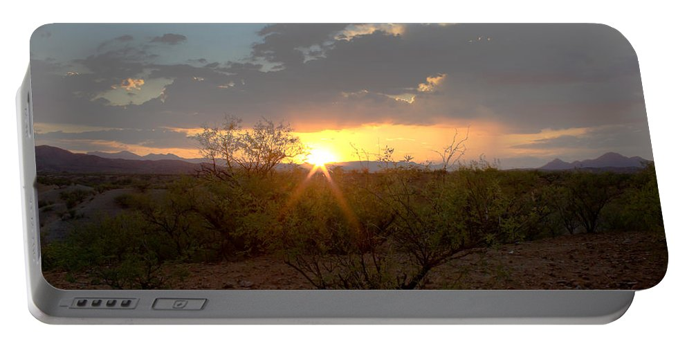 Tucson Portable Battery Charger featuring the photograph Arizona Sunset by John Daly