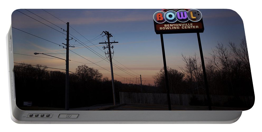 Portable Battery Charger featuring the photograph Arkansas Bowl by Jennifer Ann Henry