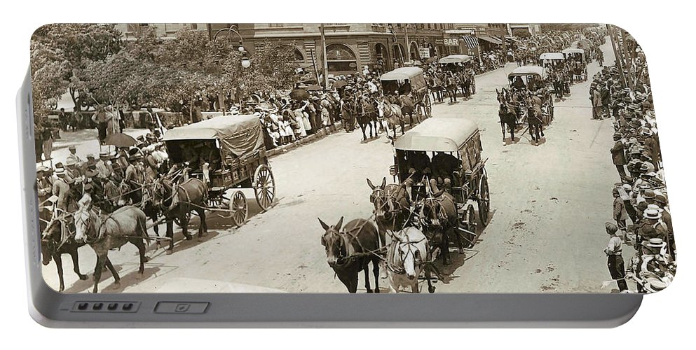 Unknown Portable Battery Charger featuring the digital art Army Day 1915 by Unknown
