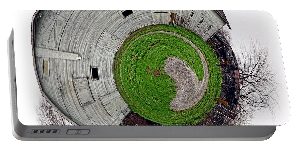 Landscape Portable Battery Charger featuring the photograph Around The Barn by Deb Buchanan