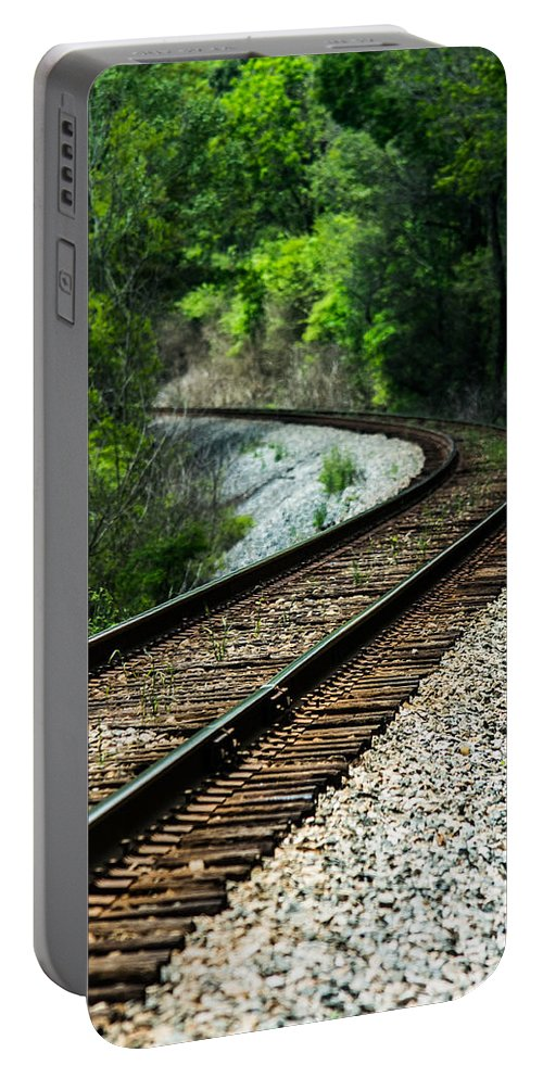 Train Portable Battery Charger featuring the photograph Around The Bend by Parker Cunningham