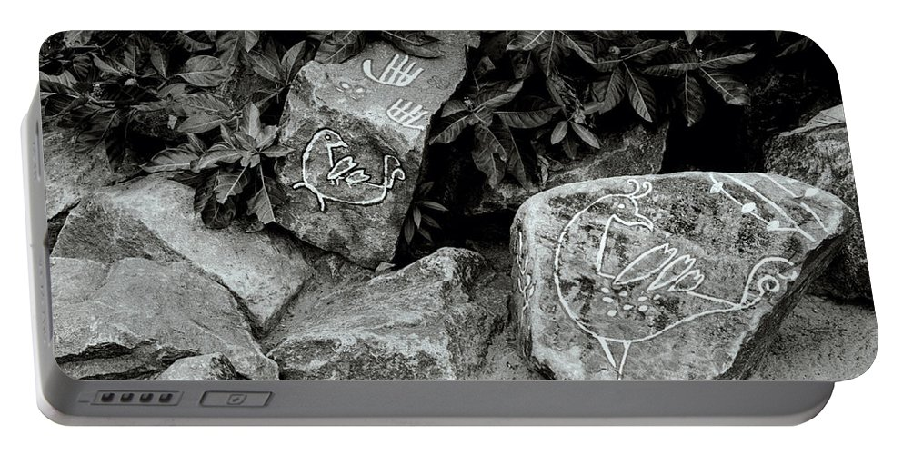 Rock Portable Battery Charger featuring the photograph Art In Kochi by Shaun Higson