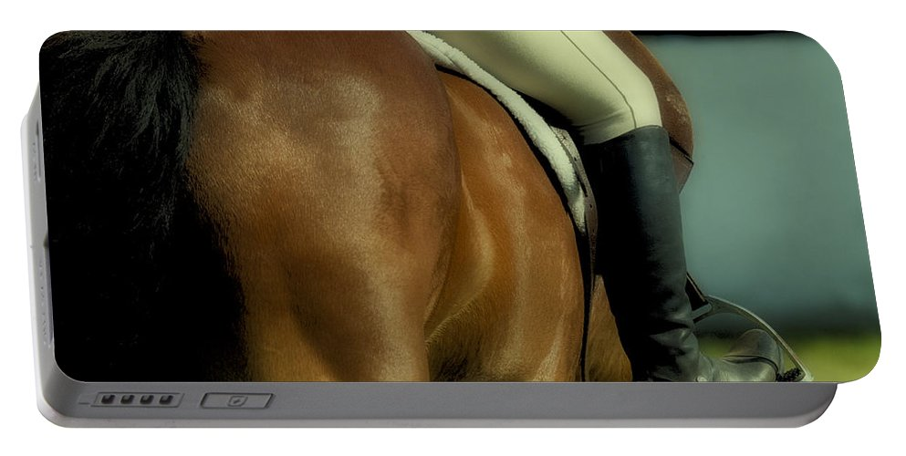 Western Portable Battery Charger featuring the photograph Art Of The Horse by Bob Christopher