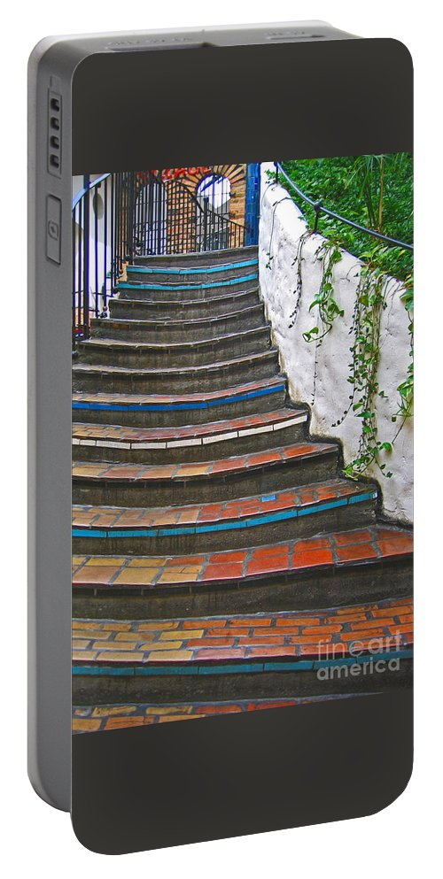 Stairs Portable Battery Charger featuring the photograph Artful Stair Steps by Ann Horn