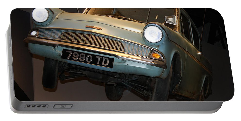 Harry Potter Portable Battery Charger featuring the photograph Arthur's Flying Ford Anglia by David Nicholls