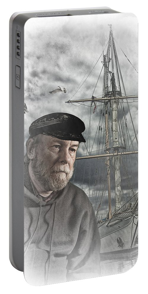 Art Portable Battery Charger featuring the photograph Artistic Digital Image Of An Old Sea Captain by Randall Nyhof