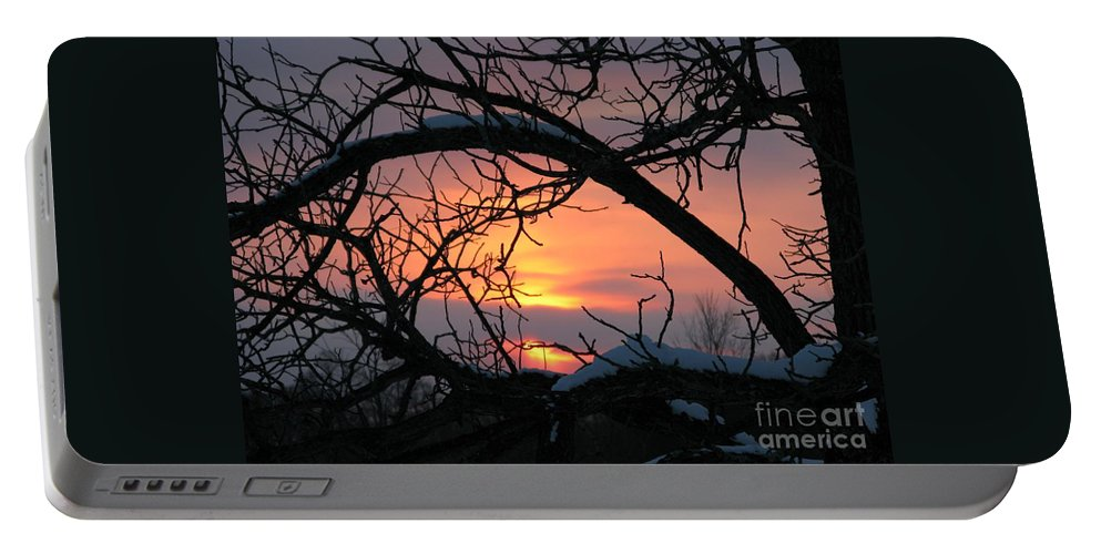 Sunset Portable Battery Charger featuring the photograph As A Bird Sees by Ann Horn