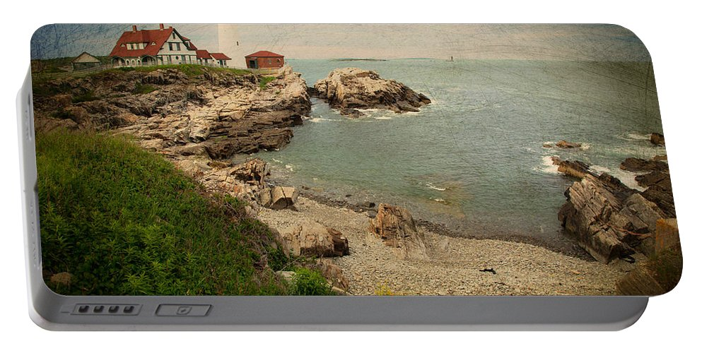 As The House Looks Over Portable Battery Charger featuring the photograph As The House Looks Over by Karol Livote
