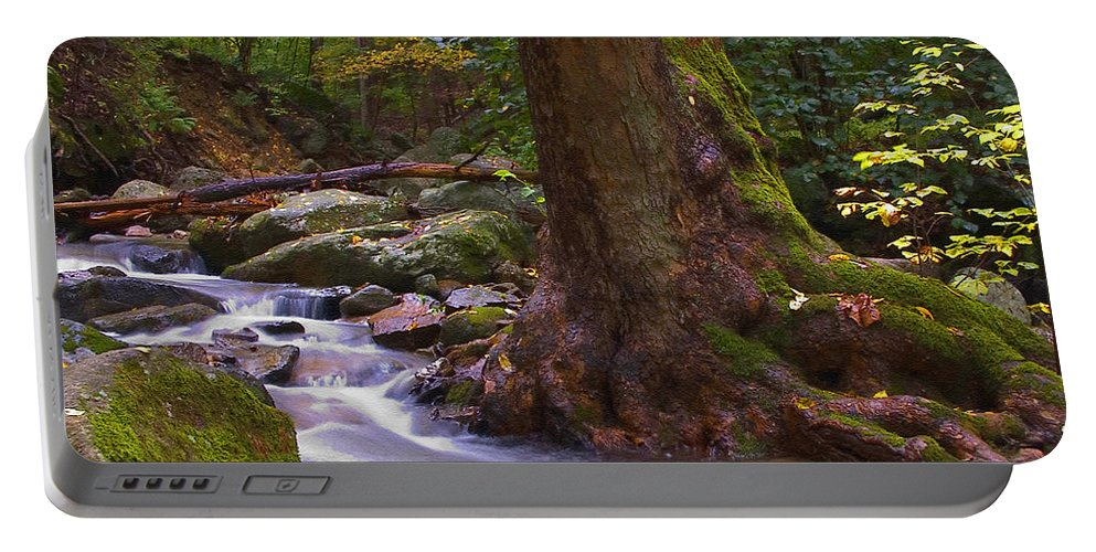 River Portable Battery Charger featuring the photograph As The River Runs by Karol Livote