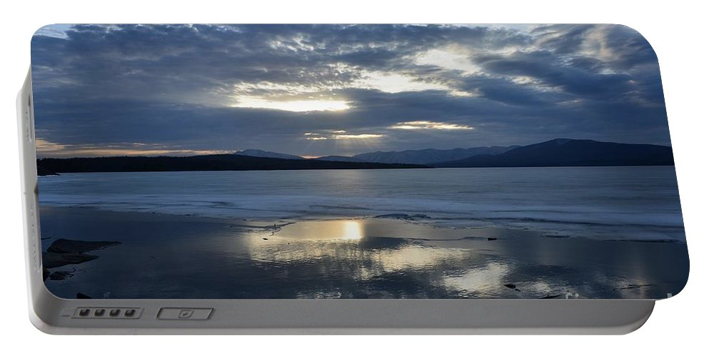 Water Portable Battery Charger featuring the photograph Ashokan Reservoir 10 by Cassie Marie Photography