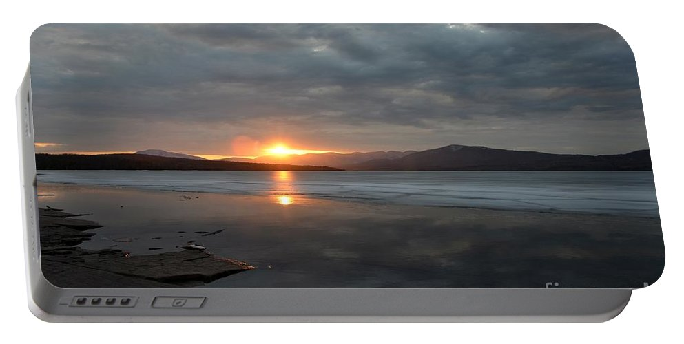 Water Portable Battery Charger featuring the photograph Ashokan Reservoir 37 by Cassie Marie Photography