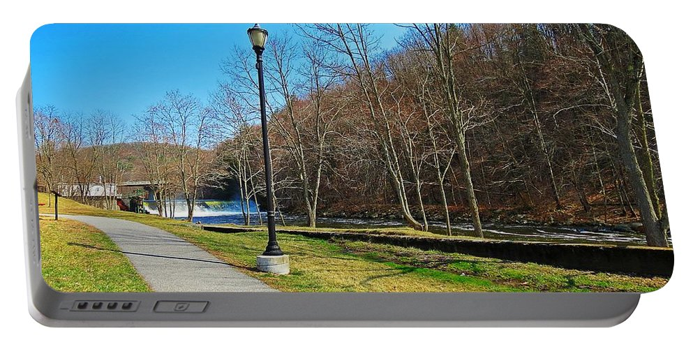 Ashuelot River Portable Battery Charger featuring the photograph Ashuelot River In Hinsdale by MTBobbins Photography