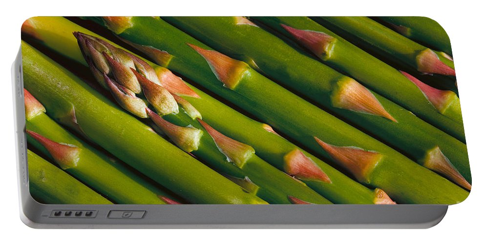 Asparagus Portable Battery Charger featuring the photograph Asparagus by Jerry Fornarotto