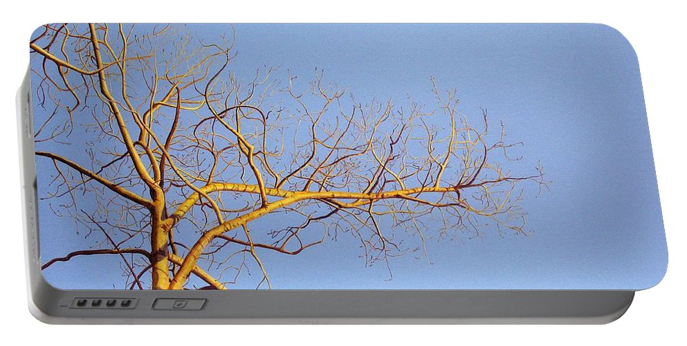 Aspen Painting Portable Battery Charger featuring the painting Aspen In The Autumn Sun by Elaine Booth-Kallweit