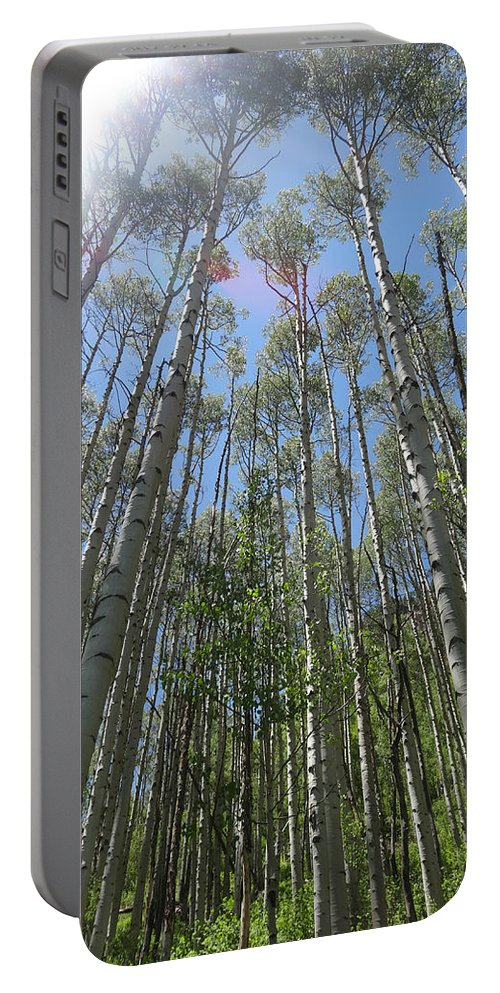 Aspen Light Portable Battery Charger featuring the photograph Aspen Light by Dan Sproul