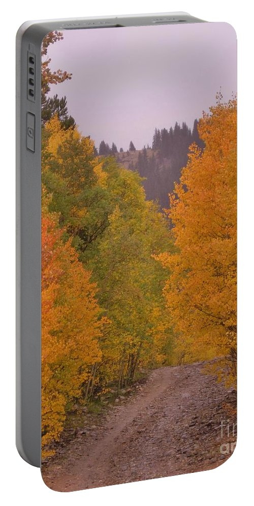 Aspens Portable Battery Charger featuring the photograph Aspen Road by Tonya Hance