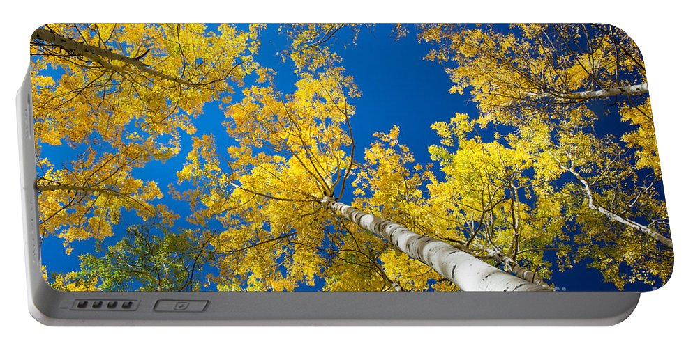 America Portable Battery Charger featuring the photograph Aspen Sky by Inge Johnsson