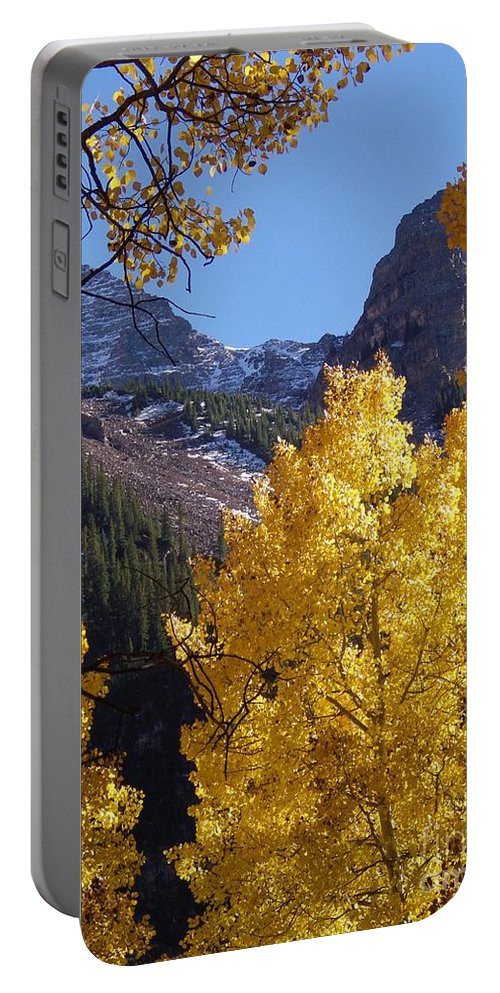Maroon Bells Portable Battery Charger featuring the photograph Aspen Viewing by Tonya Hance