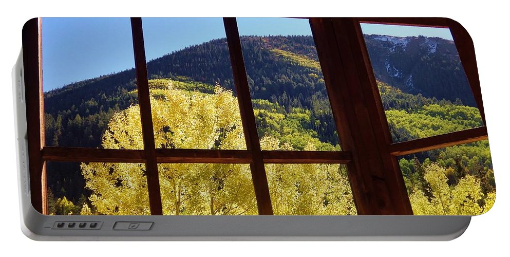 Aspen Portable Battery Charger featuring the photograph Aspen Window 2 by Tonya Hance