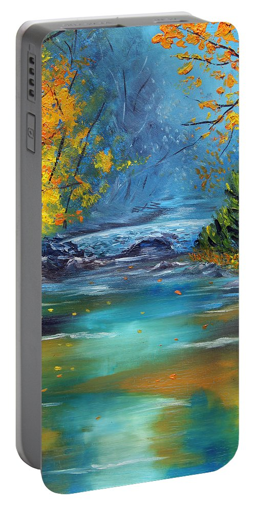 Landscape Portable Battery Charger featuring the painting Assurance by Meaghan Troup