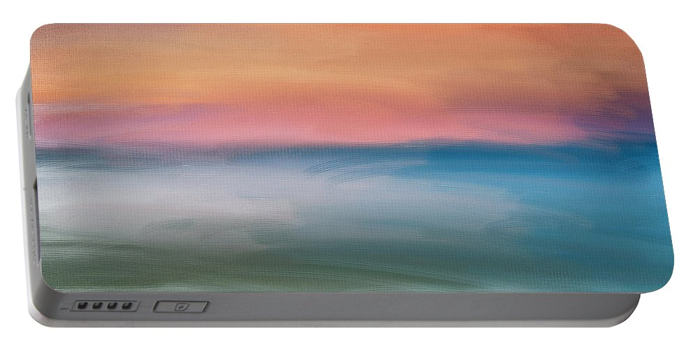 Seascapes Abstract Portable Battery Charger featuring the digital art Astound by Lourry Legarde