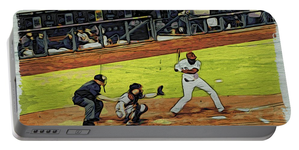 Phillies Portable Battery Charger featuring the photograph At Bat by Alice Gipson